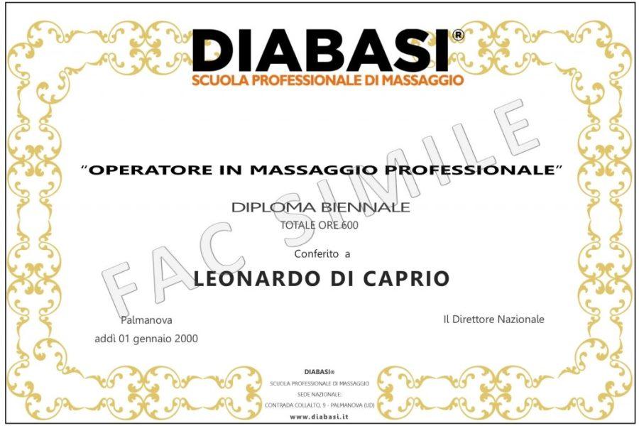 diploma massaggio biennale professionale